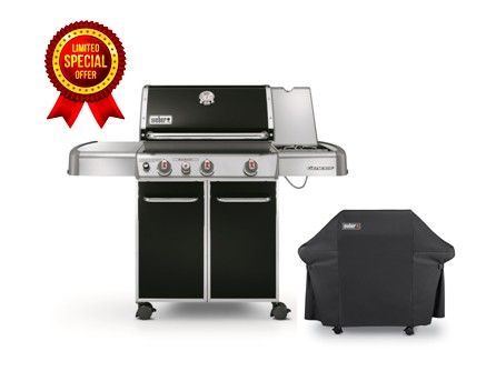 BARBECUE GENESIS E-330 GBS BLACK CON CUSTODIA - METANO