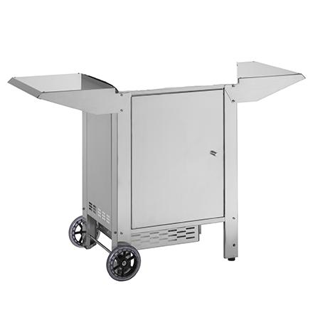 Carrello Chiuso con Porta Bombola per Barbecue Planet Chef 55