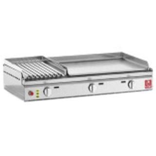 Barbecue PLANET Clas 80 Versione MIX – Piastra Liscia e Pietra Lavica cod. clas 80