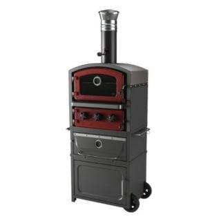 Fornetto Alto con affumicatore e scaldavivande Brick Cod. PZ-7 RO