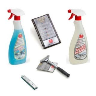 Kit pulizia CLEAN Pack Maxi Planet per la pulizia piastre Acciaio e Ceramica Cod. C.P.MAXI