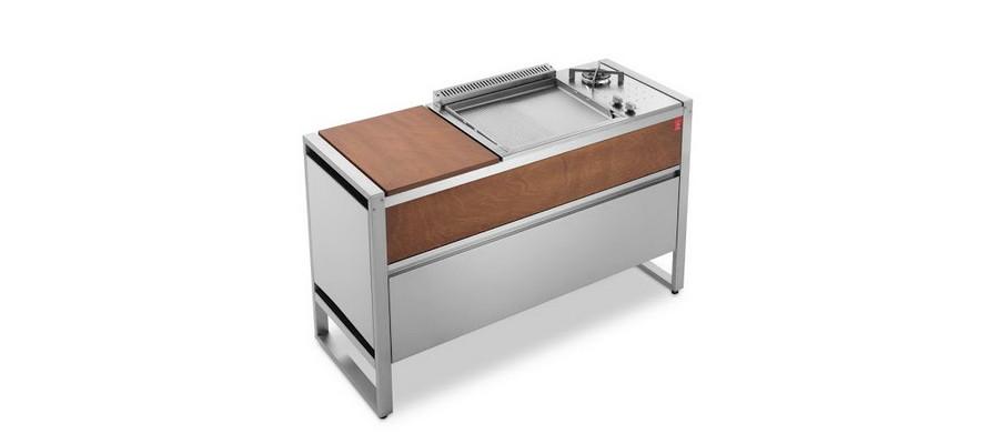 Tavolo PLANET OASI 142 mobile chiuso con BBQ IN 55 COMBI